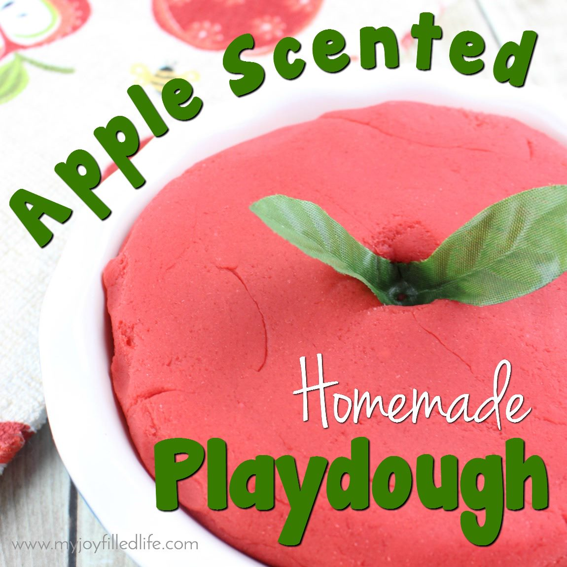 Homemade Apple Scented Playdough